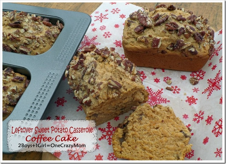 Create a simple leftover Sweet Potato Casserole Coffee Cake #Recipe