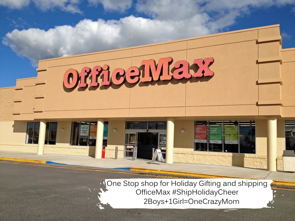 OfficeMax is your one stop Christmas Shopping destination with a FedEx Shipping Service deal and other offers #ShipHolidayCheer for less this year #Giveaway