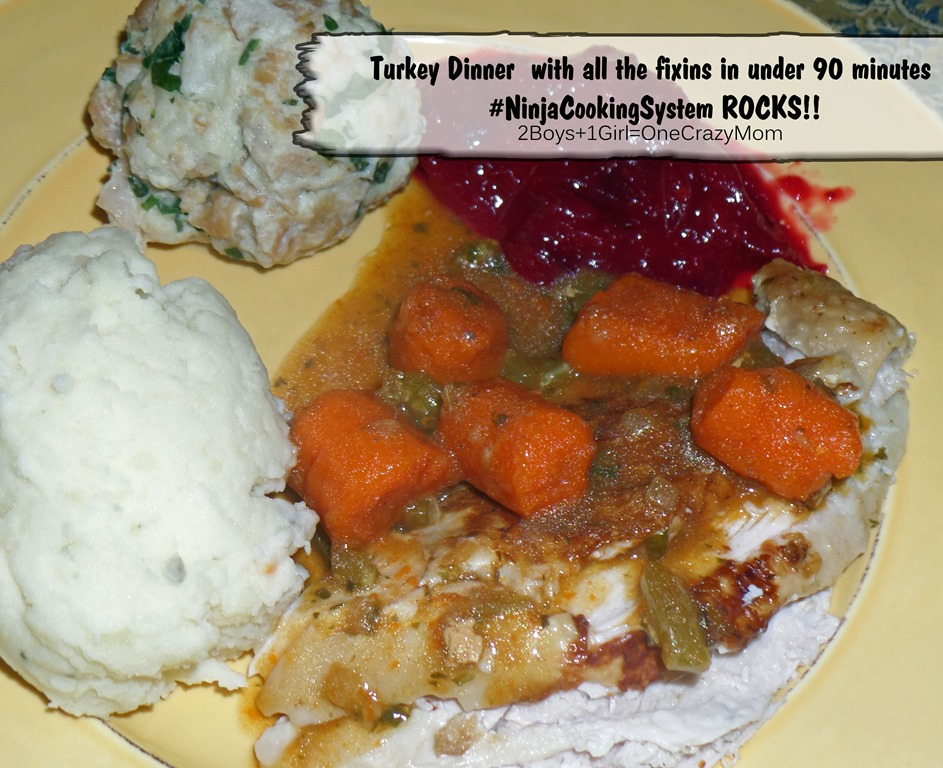 Cook your turkey in under 90 minutes and enjoy your family for the rest of the day with the Ninja Cooking System #Recipe