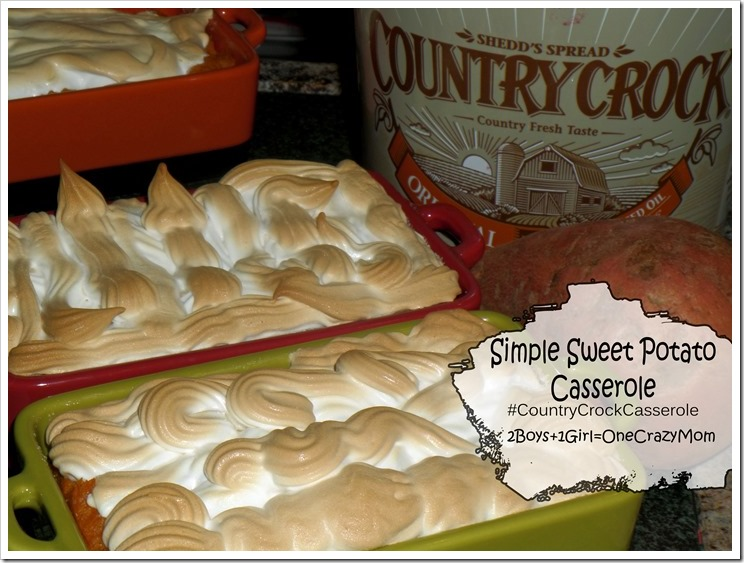 Dish up a Simple Sweet Potato Casserole this Holiday Season #CountryCrockCasserole and enter our #Giveaway