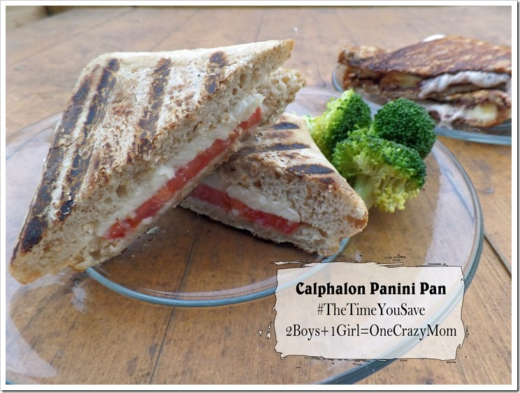 Tomato and Mozzarella Panini's with Calphalon ~ what would you do with #TheTimeYouSave