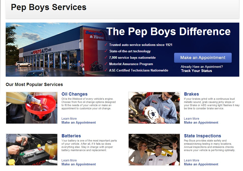 pep boys will keep your car in tip top shape anytime of the year. Black Bedroom Furniture Sets. Home Design Ideas