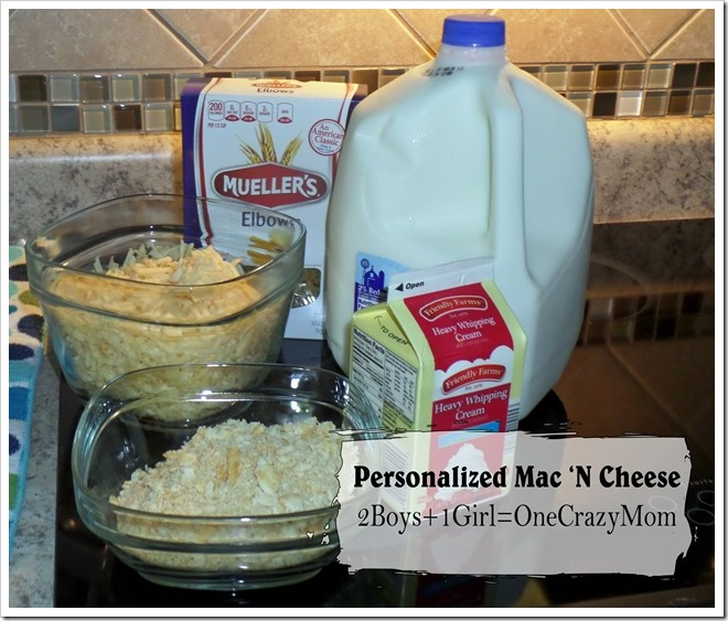 Homemade Mac' N Cheese personalized to everyone's likes and loving the Bobby Flay Ramekins #Recipe