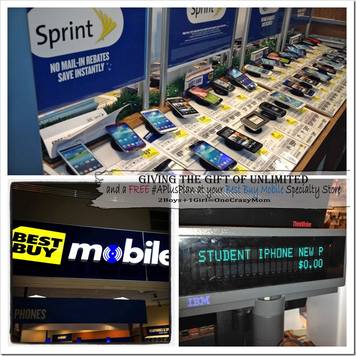 Give the Gift of Unlimited and a Free #APlusPlan for your Student only at your Best Buy Mobile Specialty Store #shop