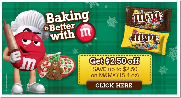 Grab this hot Mars M&M Baking Coupon before it's gone and get some #BakingIdeas