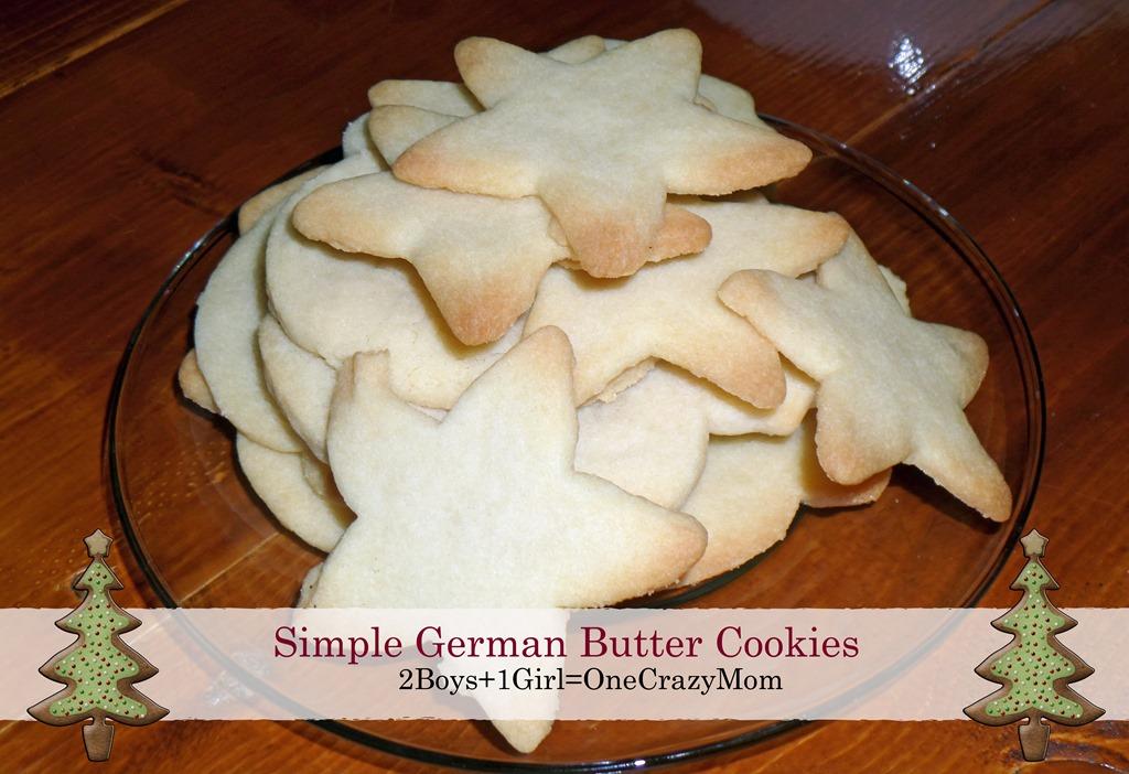 Simple German Butter Cookies #Recipe