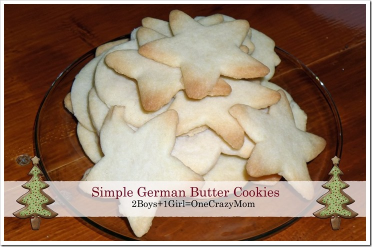 Simple German Butter Cookies #Recipe