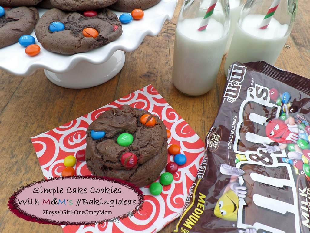 Dish up some Simple Cake Cookies with M&M's ~ Now that's #BakingIdeas