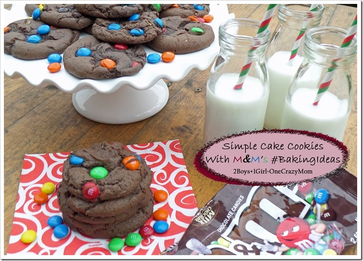 Dish up some Simple Cake Cookies with M&M's ~ Now that's  #BakingIdeas #shop