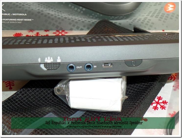 Looking for a Gift idea for Teens ~ Check out the Sol Republic x Motorola Deck Bluetooth Wireless Speaker  #PerfectGift