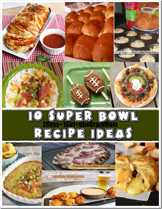 Get ready for the big day with 10 delicious Super Bowl #recipe Ideas
