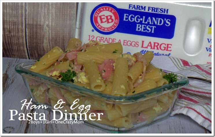 A German Ham & Egg Pasta Dinner #recipe that will have you asking for seconds