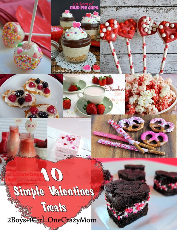 10 Simple Valentines Treat ideas #Recipe