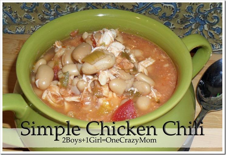 Chicken Chili Crockpot #Recipe