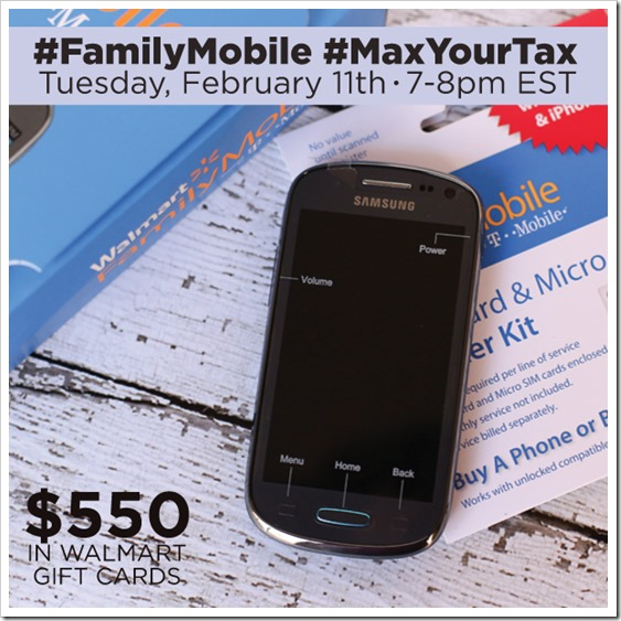 Would love for you to Join Me At The #FamilyMobile #MaxYourTax Twitter Party 2/11 7 pm-8 pm ET #shop