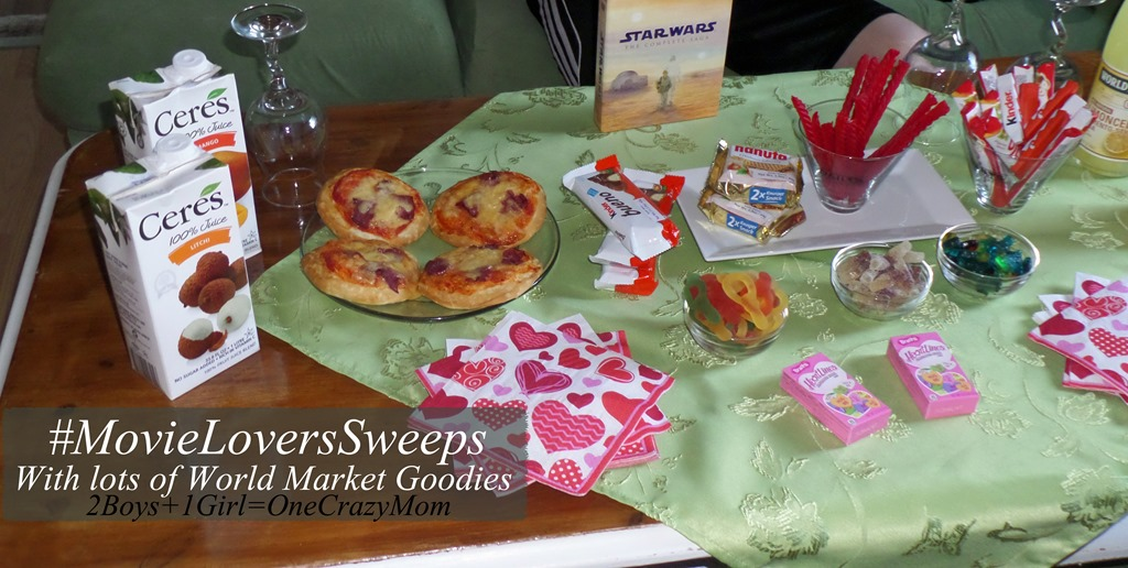 Create a simple family movie night with goodies from World Market #MovieLoversSweeps
