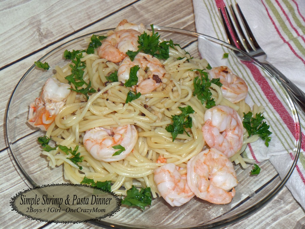 What is your kitchen shortcut? Check out mine and create a Simple Pasta Shrimp Dinner in no time #Recipe