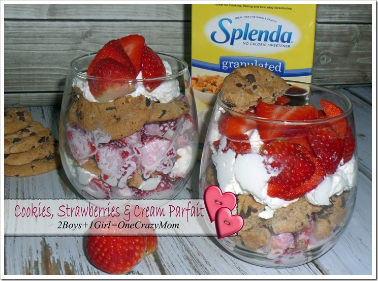 Spoil your Valentine with a Sugar Free Cookies, Strawberries & Cream Parfait #Recipe #Moms4JNJConsumer #ad