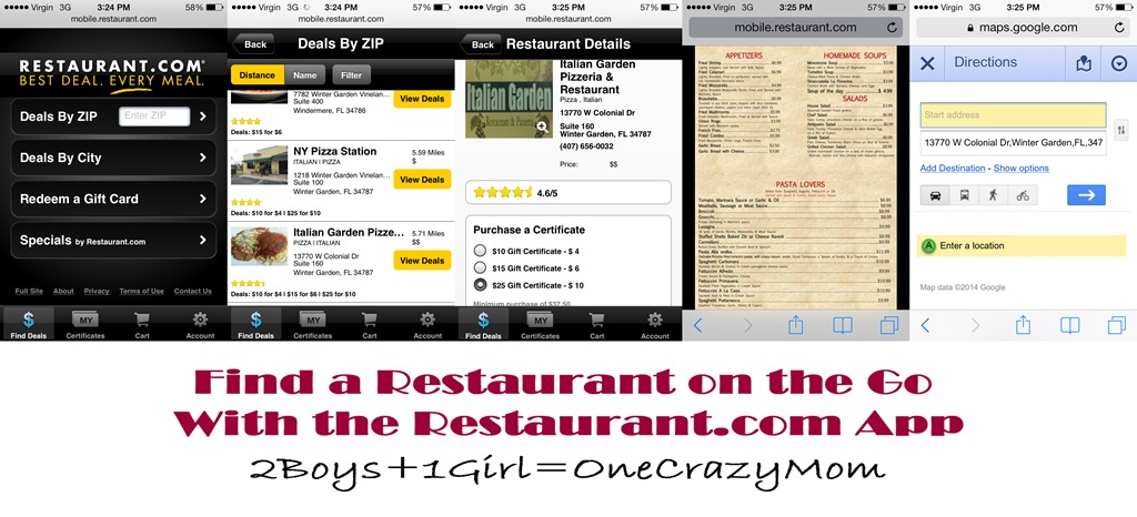Find a Restaurant on the Go with the Restaurant.com App #ReviewCrew