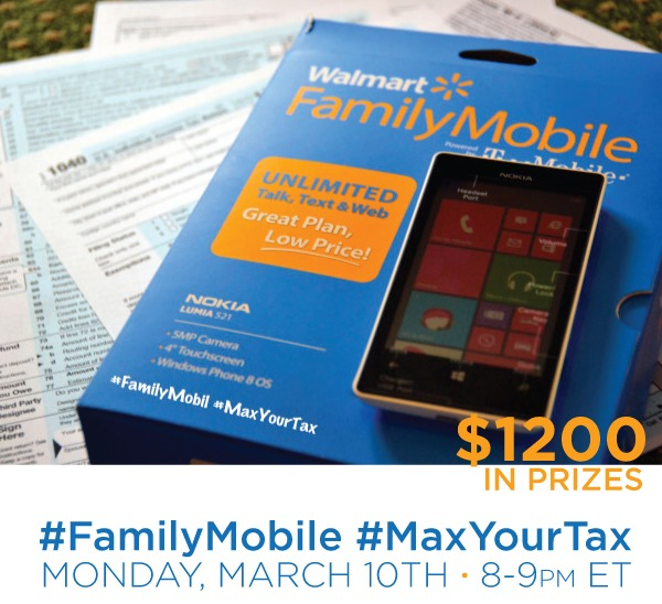 Come Join Me at the #FamilyMobile #MaxYourTax Twitter Party