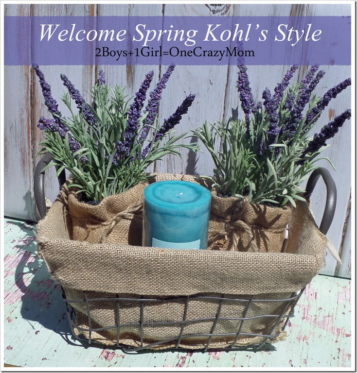 Welcome Spring Kohl's Style and decorate your home