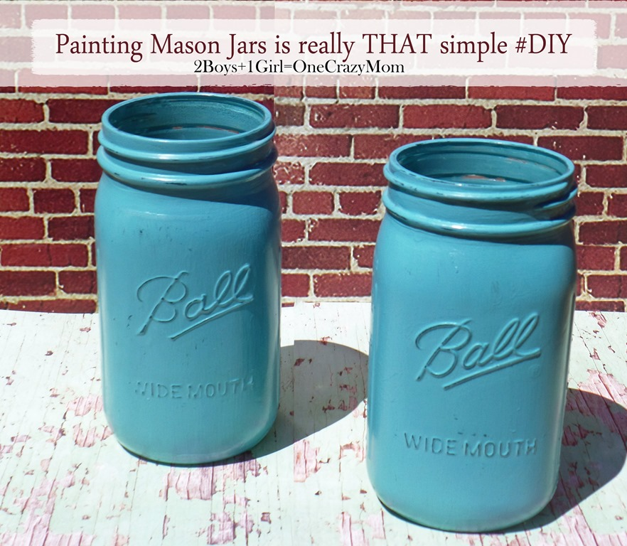 Painting a mason jar isn't THAT hard at all #DIY
