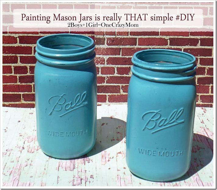 Painting a mason jar isn't THAT hard at all #DIY