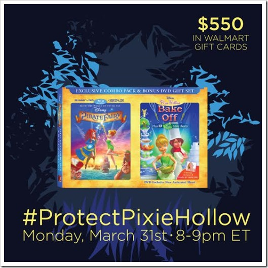 Come join Me At #ProtectPixieHollow Twitter Party 3/31 8:00 PM EST!