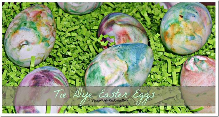Tie Dye Easter Eggs with Shaving Cream #DIY