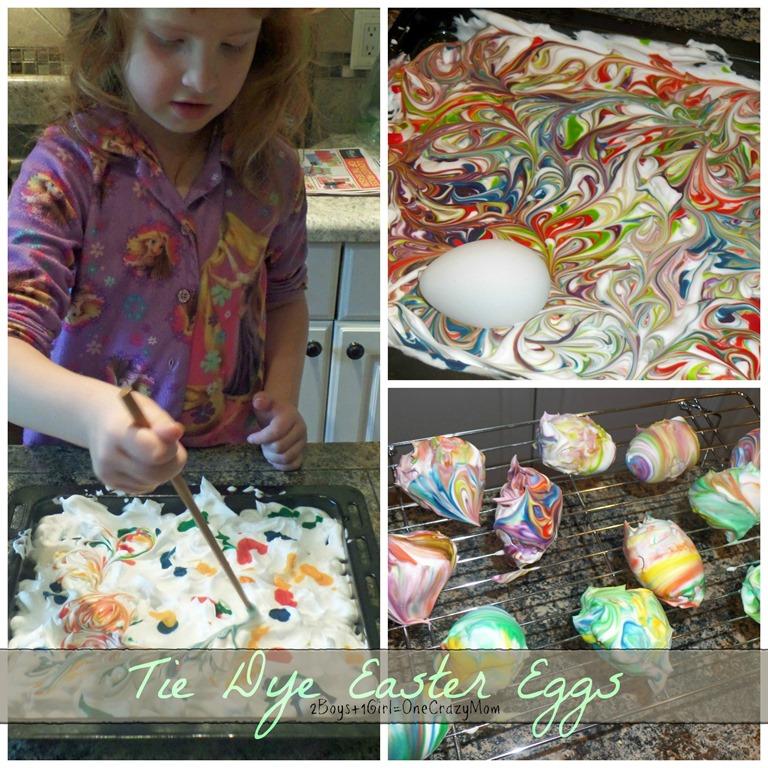 Tie Dye Easter Eggs with Shaving Cream DIY  2 Boys  1 Girl