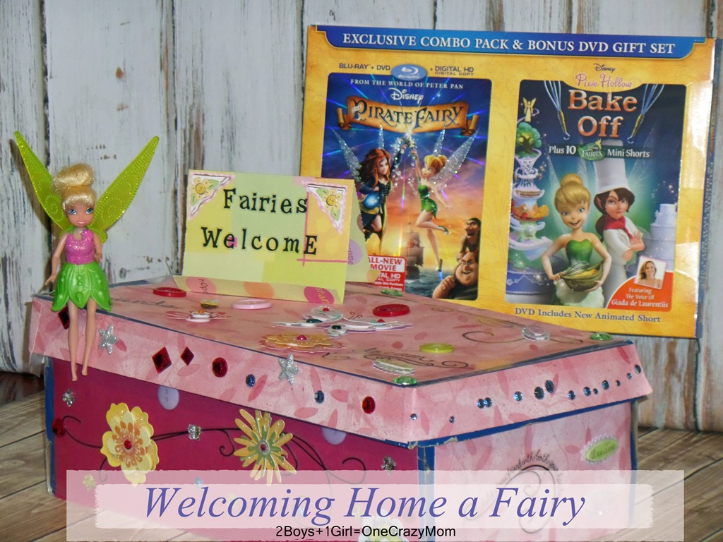 We are welcoming home a Fairy with a #DIY Fairy Box and the Pirate Fairy Movie DVD ~ Come help us #ProtectPixieHollow