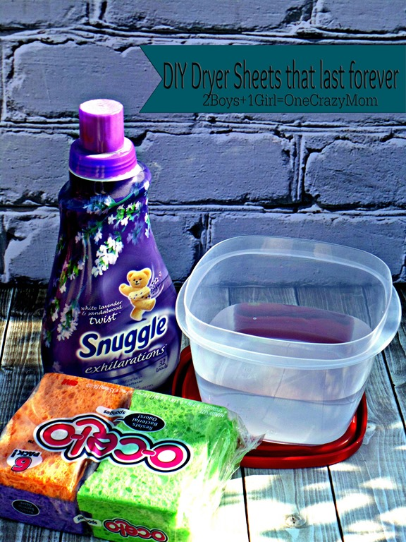 Make your own Dryer Sheets for pennies #BudgetFriendly and #DIY simple
