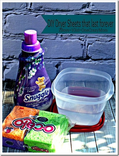 Make your own Dryer Sheets for pennies #BudgedFriendly and #DIY simple