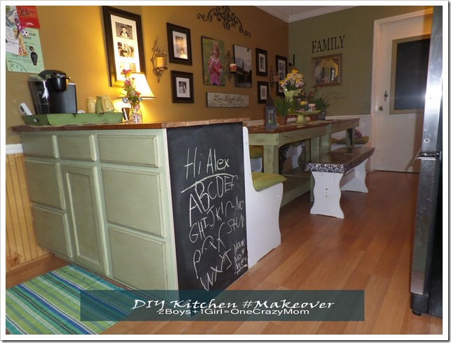 Simple kitchen #DIY adding more counter space and room