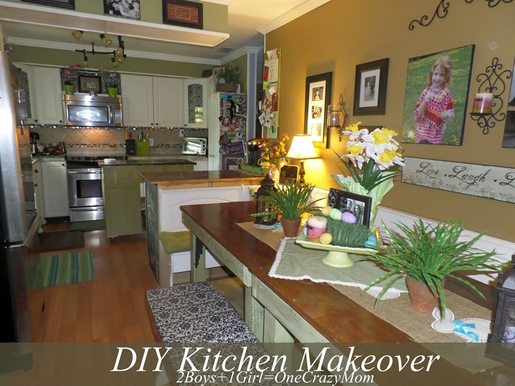 simple kitchen diy adding more counter space and room 2 boys