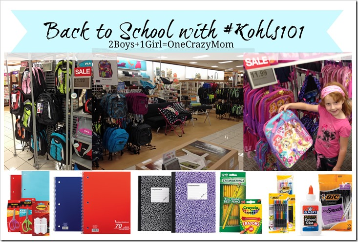 Get ready for back to school with #Kohls101 one stop shop