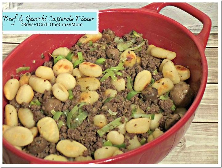 Beef & Gnocchi Casserole Dinner Idea #Recipe