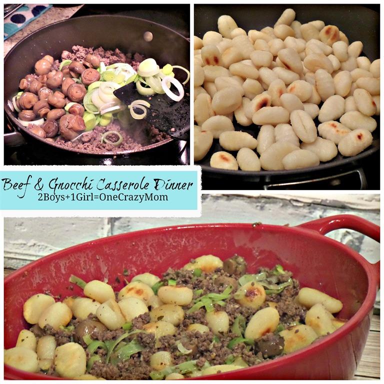 Simple Beef & Gnocchi Casserole Dinner Idea #Recipe