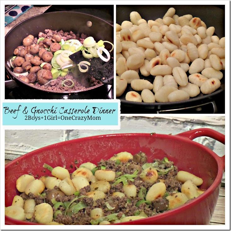 Beef & Gnocchi Casserole #Dinner