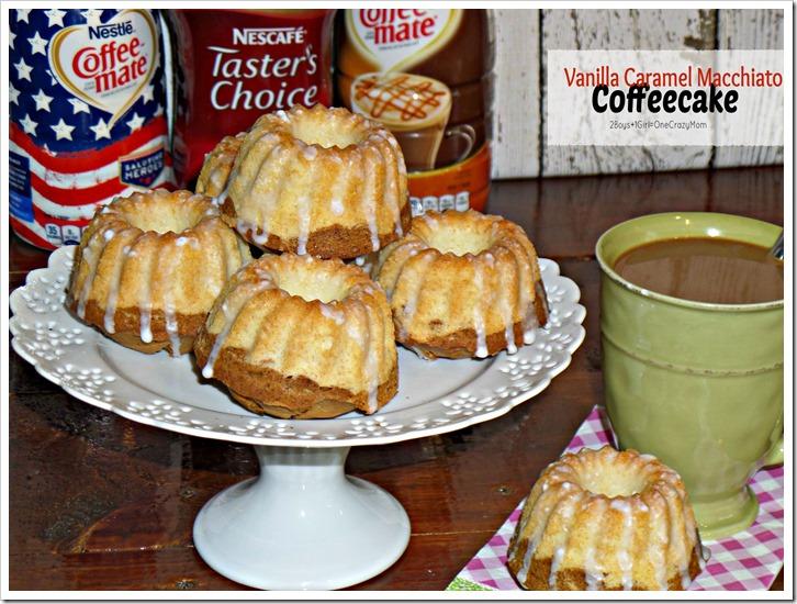 Breakfast the simple way #MyGoodLife and sharing a Vanilla Caramel Macchiato Coffeecake #Recipe