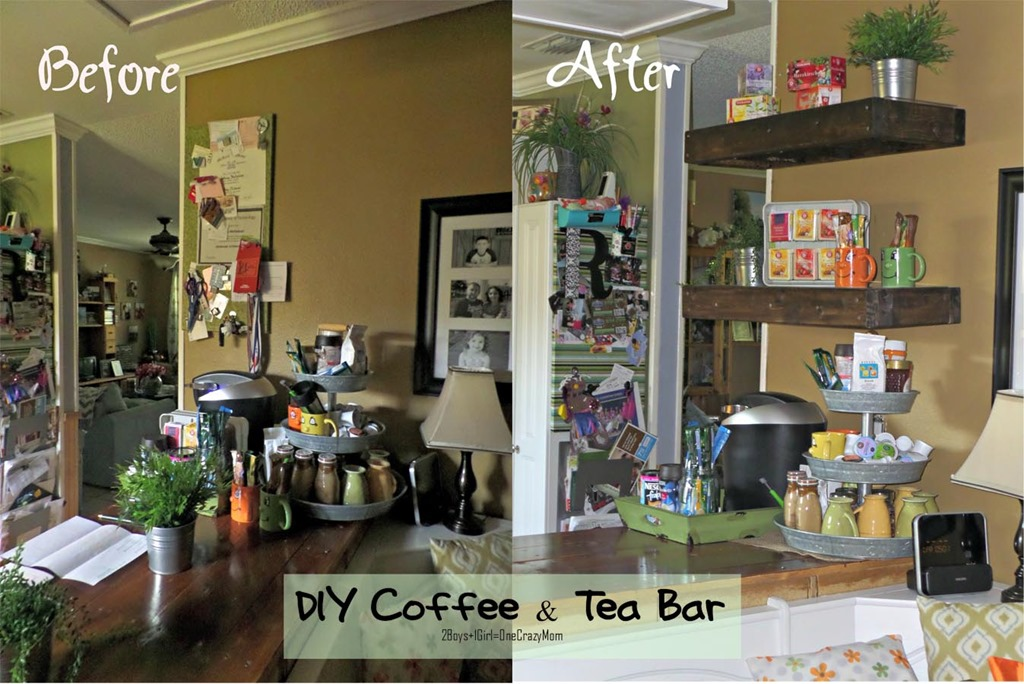 create a simple coffee tea bar in your kitchen diy