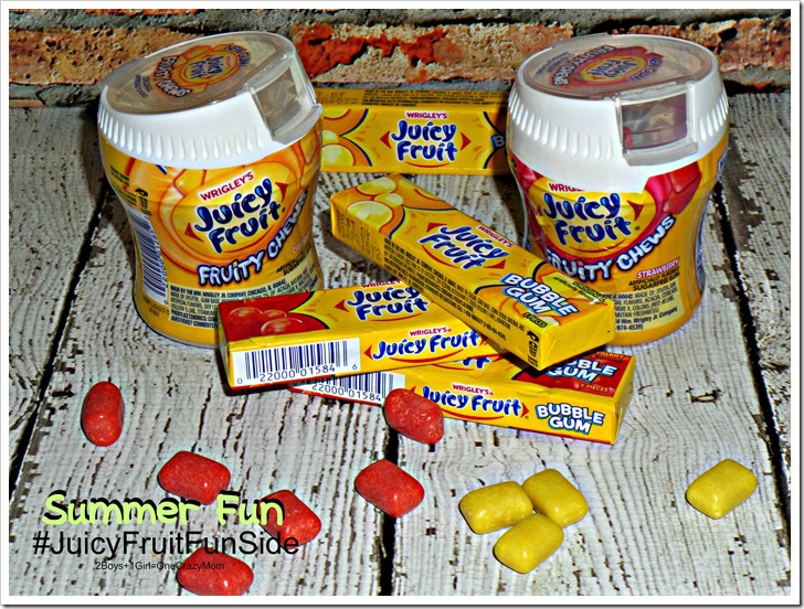Enjoy your summer fun with chewing gum and show your #JuicyFruitFunSide #shop