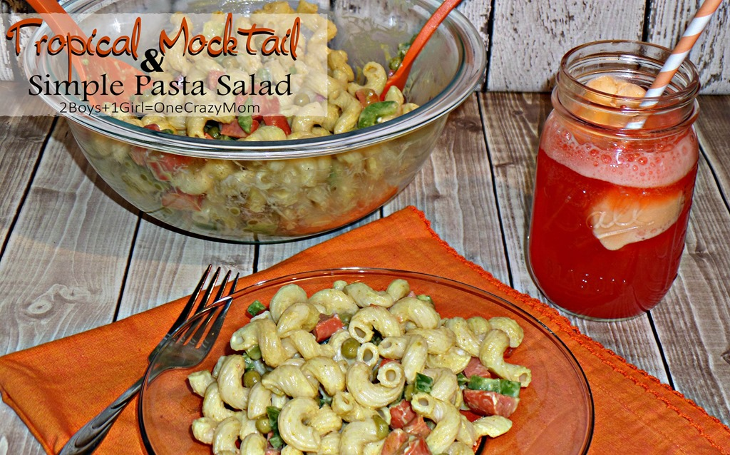 We are dishing up a Simple Pasta Salad with a Mocktail KOOL-AID Sorbet Punch and #PackedWithSavings