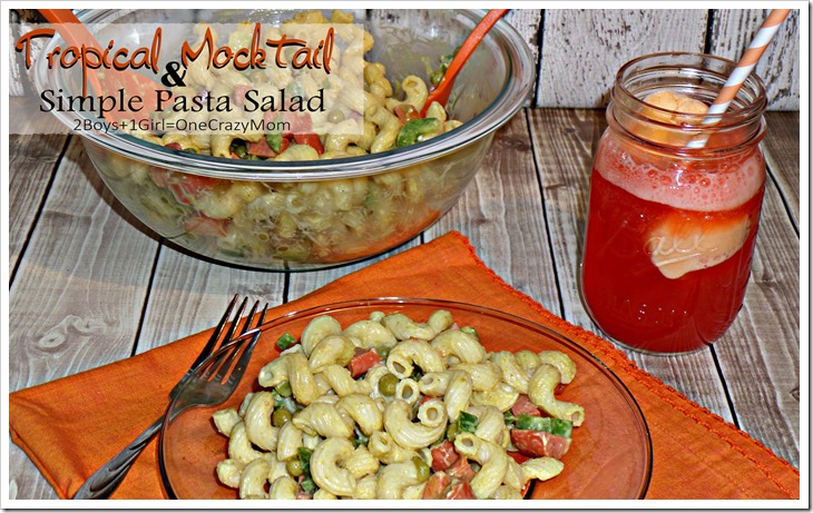 We are dishing up a Simple Pasta Salad with a Mocktail KOOL-AID Sorbet Punch and #PackedWithSavings #shop