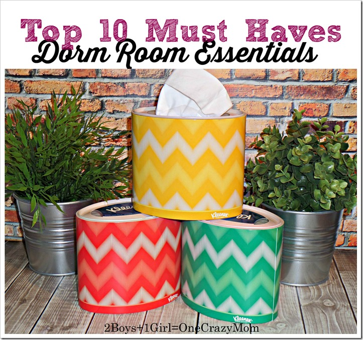 Don't forget to check out our Dorm Room Essentials Top 10 from a Teens view as well as a Mom's view #KleenexStyle