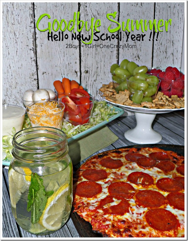 Goodbye Summer ~ Hello New School year let's Celebrate with a Pizza Family Party #FoodMadeSimple #shop
