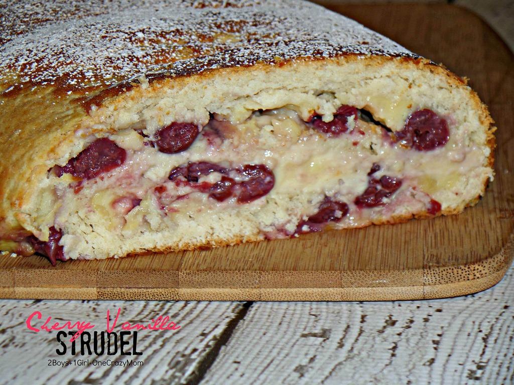 Create a simple Cherry Vanilla Strudel #Recipe