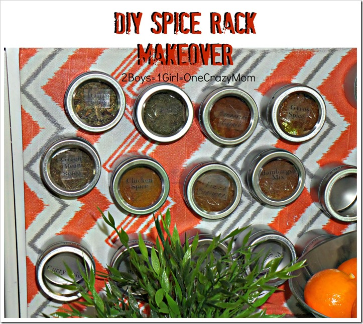 #DIY Magnet Spice Racksimple idea