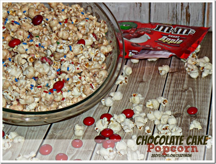 Movie night with Captain America and Chocolate Cake Popcorn #HeroesEatMMs #Shop