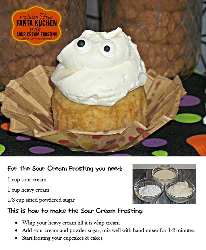 A Gluten Free Fanta cake can be so simple and a #SpookySnack #Recipe #Shop Sour Cream Frosting